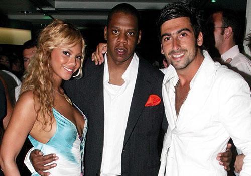 Samy avec Beyonce et Jay-Z.