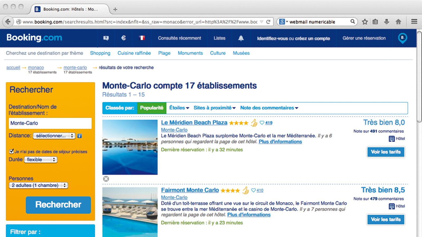 Affaire Booking.com<br/>Monaco n'attaquera pas en justice