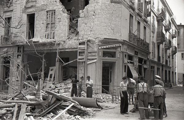 Monaco subit les bombardements. © Photo Mairie de Monaco Fond Régional