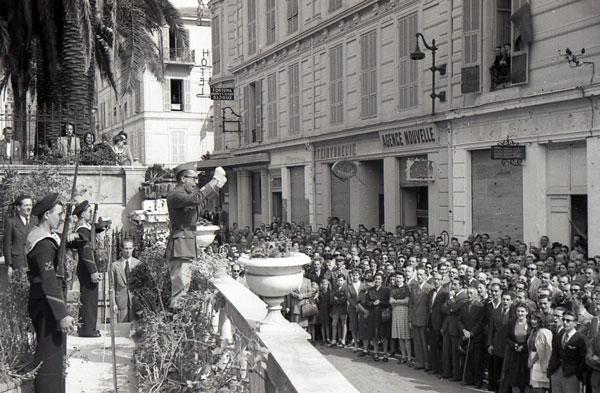 A la Libération, la Principauté connaît le plus grand manifestation de son histoire avec 15 000 personnes dans la rue.  © Photo Mairie de Monaco Fond Régional
