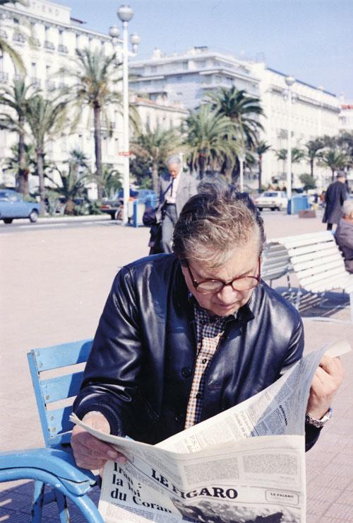 Francis Bacon à Nice en mars 1979. © Eddy Batache courtesy : MB Art Foundation
