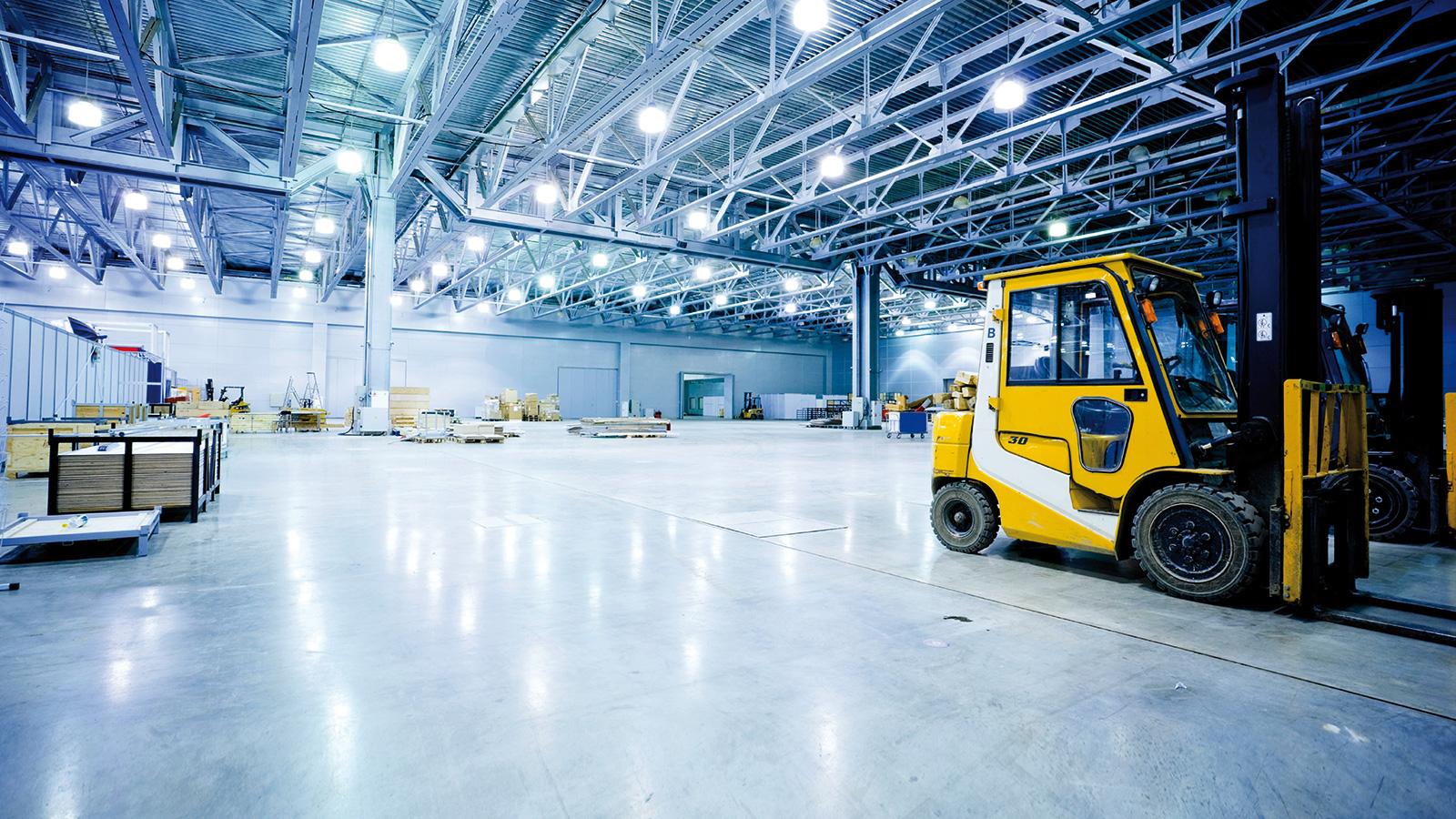 Industrie-Hangar-transpalette